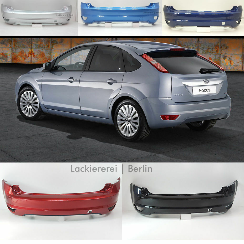 NEU! Ford Focus Schrägheck 2008-2011 STOßSTANGE HINTEN LACKIERT IN WUNSCHFARBE